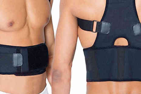 Black Sheep - Magnetic Back Support Belt Choose 4 Sizes - Save 62%