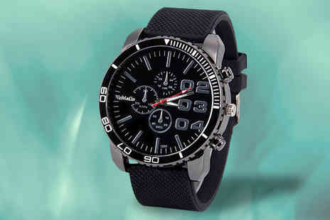 Bentleys Bargain Warehouse - Luxury Quartz Rubber Watch Choose 2 Colours - Save 33%