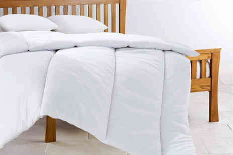 Home Furnishings Company - Single, double, king or super king size 13.5 tog duvet and two pillows - Save 75%