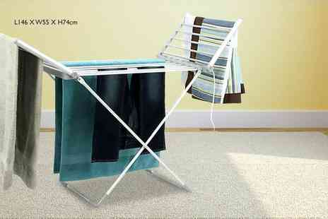 Direct 2 public - Winged folding electric clothes rack - Save 68%