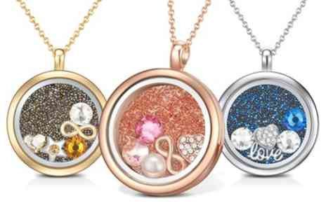Neverland Sales - Floating Charm Necklace with Crystals from Swarovski With Free Delivery - Save 73%