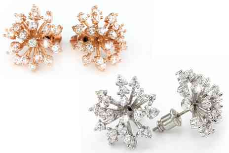 Groupon Goods Global GmbH - One or Two Snowflake Earrings Sets with Crystals from Swarovski - Save 84%