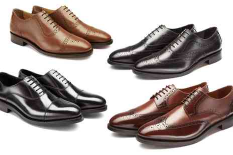 Samuel Windsor - One or Two Pairs of Samuel Windsor Handmade Italian Leather Shoes - Save 65%
