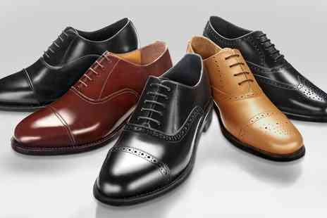 SW Shoes - One or Two Pairs of Samuel Windsor Mens Handmade Leather Shoes - Save 68%
