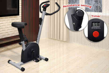 Vida XL - Fitness exercise bike with seat - Save 40%
