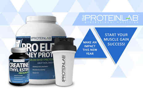 The Protein Lab - Two or four month supply of Pro Elite whey protein and Creatine supplement - Save 73%
