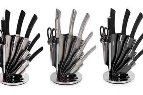 Groupon Goods Global GmbH - Tower Seven Piece Knife Set with Stand - Save 70%