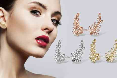 Neverland Sales - One or Two Pairs of Neverland Sales Autumn Earrings with Crystals from Swarovski  With Free Delivery - Save 71%