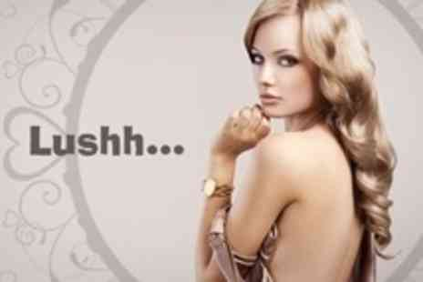 Lushh Hair and Beauty - Half Head Highlights or Full Head Colour With Restyle and Blow Dry - Save 68%