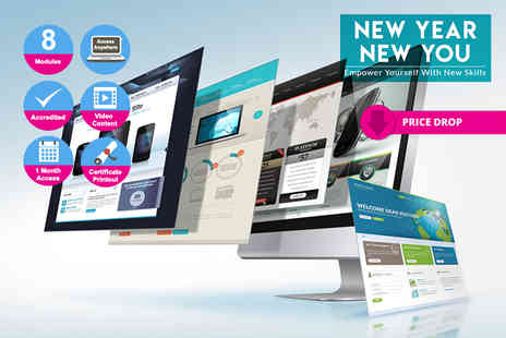 Live Online Academy - Accredited web design course - Save 97%