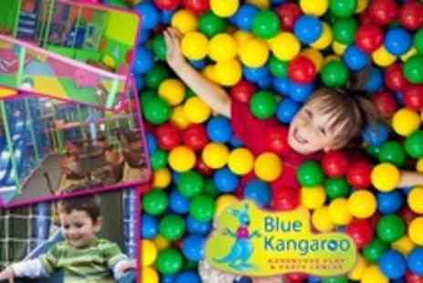 Blue Kangaroo - 24 Soft Play Entry Passes for one adult and one child - Save 78%