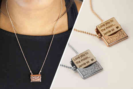 Shop Sharks - Personalised mini letter necklace choose from two colours - Save 73%