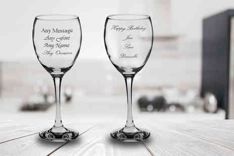 CNC Group - Set of individually personalised engraved wine glasses - Save 54%