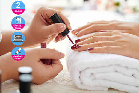 E Careers - Professional gel nail technician and manicure or pedicure diplomas - Save 93%