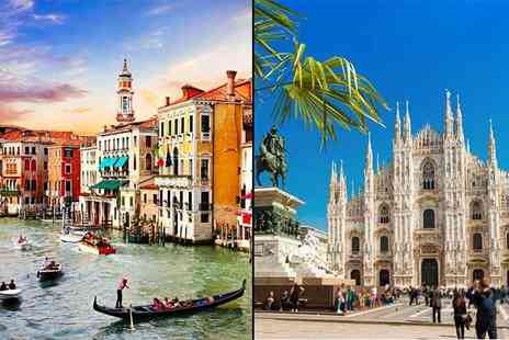 Crystal Travel - Four or six night Venice and Milan break including breakfast, flights and train transfer - Save 46%