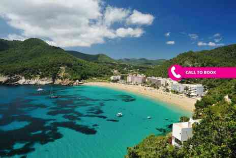 Super Escapes Travel - Three, four or seven night all inclusive Ibiza, Spain beach break with flights and a bottle of wine - Save 33%