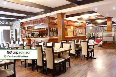 Shri Bheemas Indian Restaurant - Starter and a main lunch course each for two - Save 56%