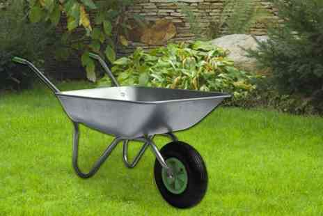 Home Empire - 65 litre heavy duty wheelbarrow with galvanised pneumatic tyre - Save 76%