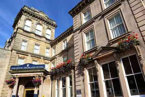 Royal Highland Hotel - One or two night Inverness stay for two with two course dinner, bottle of wine and breakfast - Save 41%