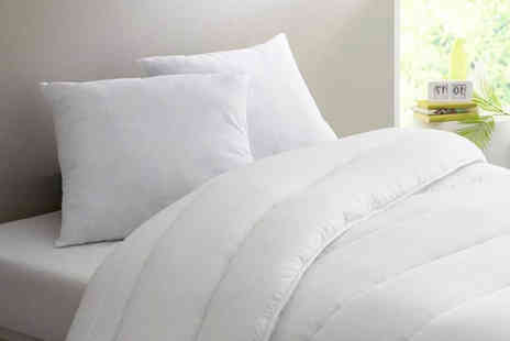 E4Emporium - 15 tog soft touch winter duvet with one or two pillows - Save 74%