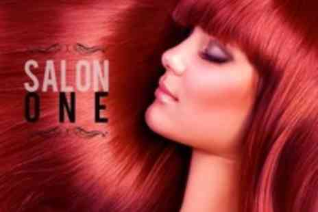 Salon One - Full Head of Semi Permanent Colour With Cut and Finish - Save 71%