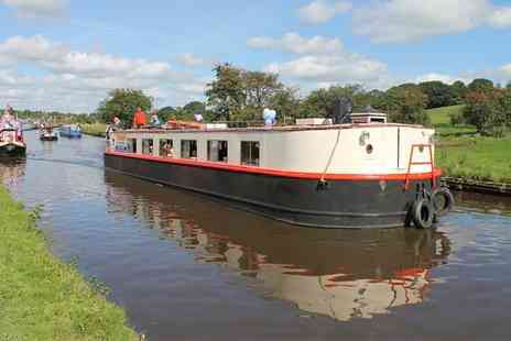 Boatel Party Cruises - 90 Minute Canal Cruise with Soup, Roll and Cream Tea for Two or Four - Save 42%