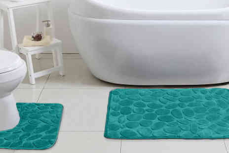 Fusion - Luxury Memory Foam Non Slip Bath Mat Sets Available in 6 Colours - Save 77%