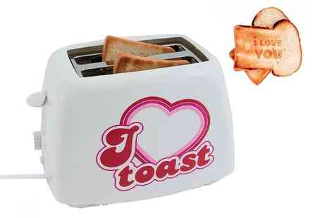 Groupon Goods Global GmbH - Present Time Two Slice Love Toast Toaster - Save 0%