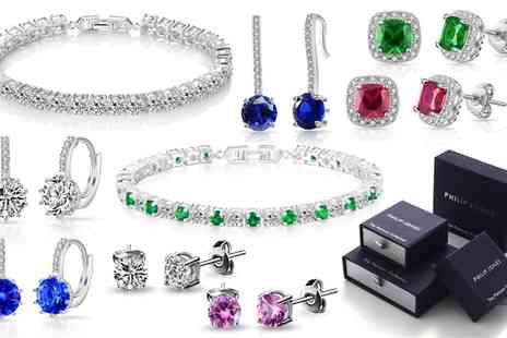 Groupon Goods Global GmbH - Philip Jones Earrings, Bracelet or Jewellery Set - Save 90%