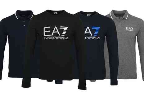 Groupon Goods Global GmbH - EA7 Emporio Armani Long Sleeve Tshirts or Polo Shirts With Free Delivery - Save 0%