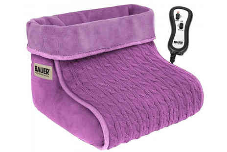 Fusion - Bauer Heated Foot Warmer & Massager Choose from 3 Colours - Save 75%