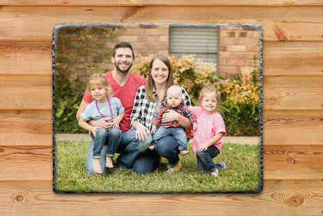 Your Perfect Canvas - Personalised slate choose from a variety of shapes and sizes - Save 80%