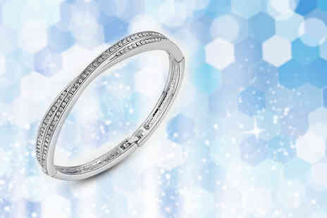 Your Ideal Gift - Cross bangle made with crystals from swarovski - Save 88%