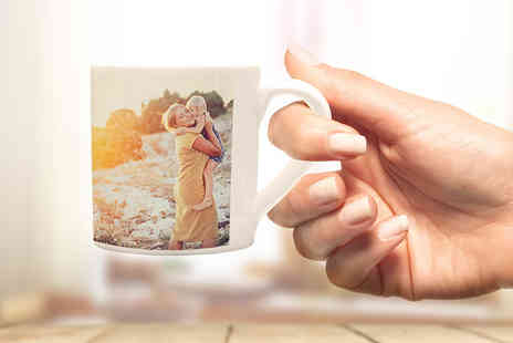 Photo Gifts - Premium personalised photo mug - Save 85%