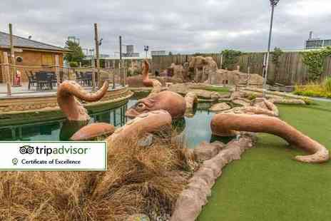 Mr Mulligan's Pirate Golf - Family ticket to Mr Mulligans 18 hole pirate adventure golf - Save 50%