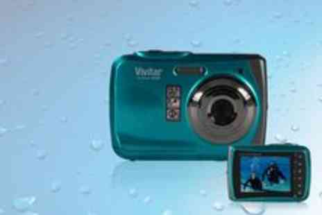 Vivitar - Waterproof 10MP Vivitar Digital Camera Vivicam X426 - Save 55%