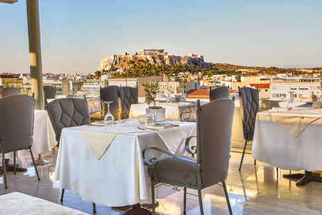 Titania - Central Athens Hotel with Sophisticated Decor For Two - Save 48%