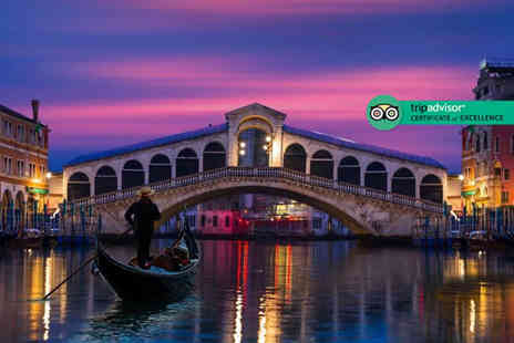 Crystal Travel - Two or three night 4 Star Venice, Italy break including flights and a gondola ride - Save 42%