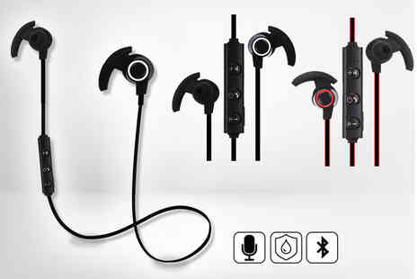 Spot Promotions - Pair of noise cancelling sports Bluetooth wireless earphones - Save 70%