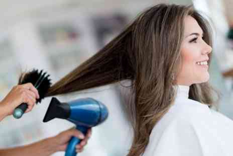 DFHair - Wash, Cut and Blow Dry with Optional Half Head Highlights - Save 65%
