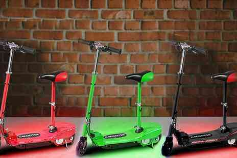 Groupon Goods Global GmbH - 120W Foldable Electric Scooter with Led Lights With Free Delivery - Save 42%