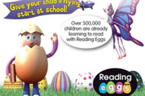 Reading Eggs - 12 month subscription to an online childrens reading programme - Save 55%