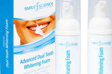 Smile Science - Smile science advanced dual teeth whitening foam - Save 80%