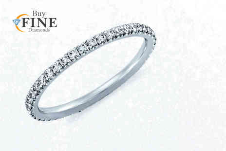Buy Fine Diamonds - Thin micro pave set full eternity ring - Save 66%