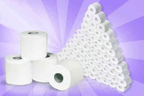 Ckent - Casper classic white toilet rolls pack of 60 - Save 55%