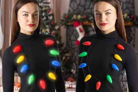 Groupon Goods Global GmbH - One, Two or Three Globrite Flashing Christmas Necklaces - Save 83%