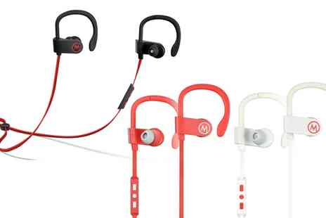 Groupon Goods Global GmbH - Apachie Bluetooth Sports Earphones in Choice of Colour - Save 72%