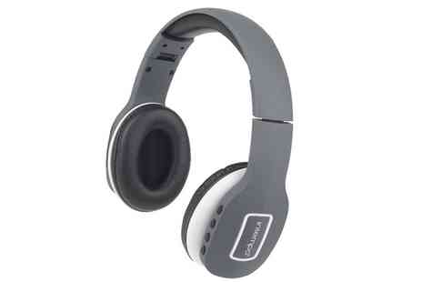 Groupon Goods Global GmbH - Intempo EE1178 Melody Folding Bluetooth Headphones, Grey or White - Save 55%