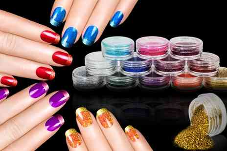 Groupon Goods Global GmbH - 12 Pack of Nail and Eyeshadow Glitter Dust Powder - Save 73%