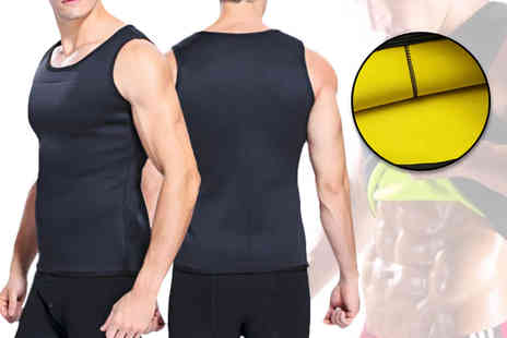 My Blu Fish - Mens neoprene slim shaper sport vest - Save 83%